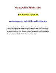CCJ 4127 Week 9 Individual Work