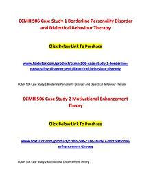 CCMH 506 All Assignments