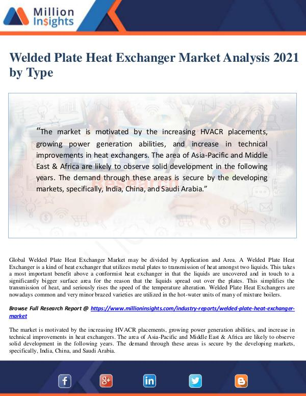 Welded Plate Heat Exchanger Market Analysis 2021 b