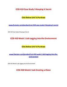 CCSI 410 All Assignments