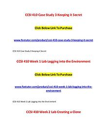 CCSI 410 All Assignments