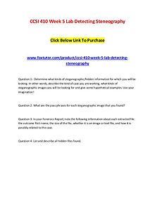 CCSI 410 Week 5 Lab Detecting Steneography