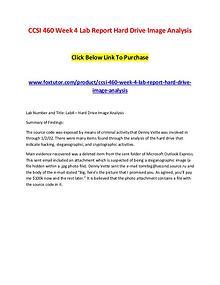 CCSI 460 Week 4 Lab Report Hard Drive Image Analysis Click Below Link