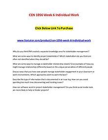 CEN 1056 Week 6 Individual Work