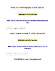 CHM 150 All Assignments
