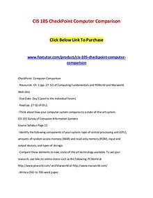 CIS 105 CheckPoint Computer Comparison
