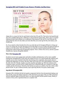 Instaglam HD : Natural Anti-aging cream with free trial offer