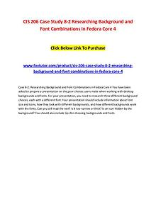 CIS 206 Case Study 8-2 Researching Background and Font Combinations i