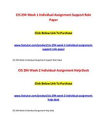 CIS 294 All Assignments