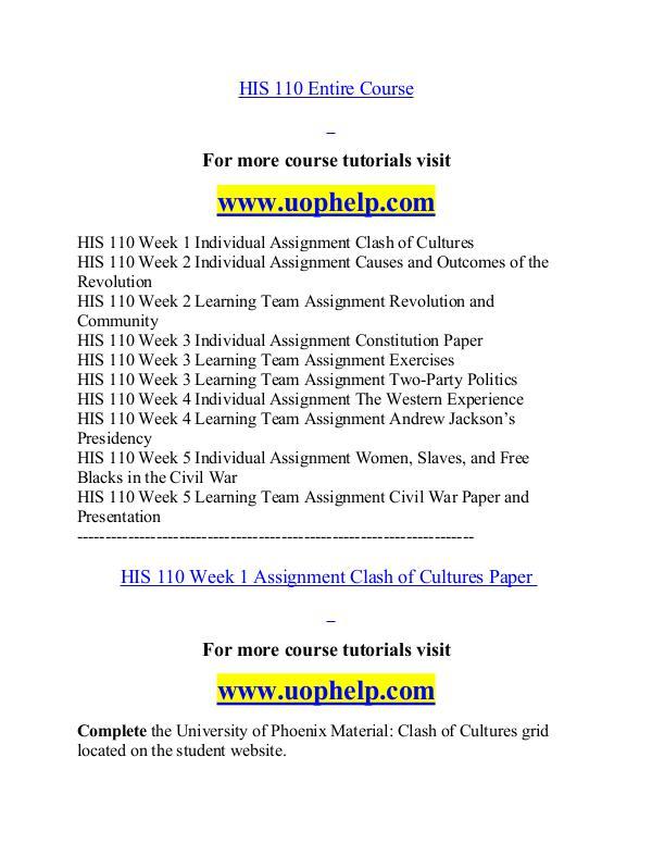 HIS 110 help Minds Online/uophelp.com HIS 110 help Minds Online/uophelp.com