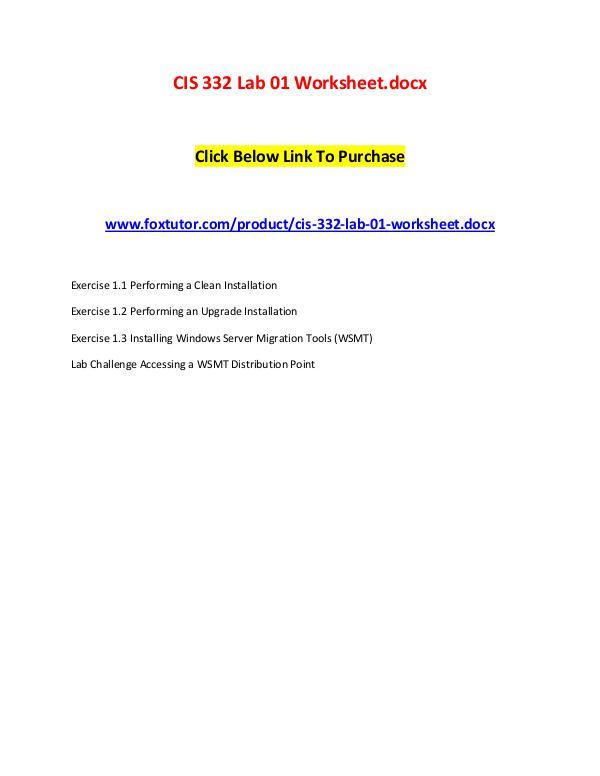 CIS 332 Lab 01 Worksheet.docx CIS 332 Lab 01 Worksheet.docx