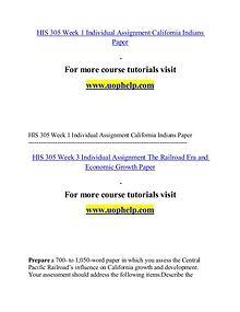 HIS 305 help Minds Online/uophelp.com