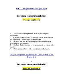 HIS 311 help Minds Online/uophelp.com