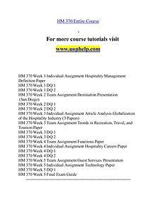HM 370 help Minds Online/uophelp.com