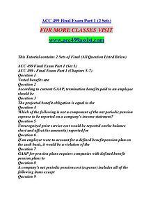 ACC 499 ASSIST Extraordinary Success/acc499assist.com
