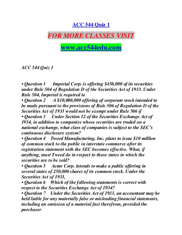 ACC 544 EDU Extraordinary Success/acc544edu.com ACC 544 EDU Extraordinary Success/acc544edu.com