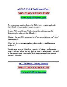 ACC 547 MASTER Extraordinary Success/acc547master.com
