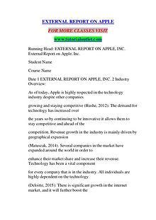 EXTERNAL REPORT ON APPLE / TUTORIALOUTLET DOT COM