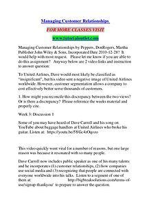 MANAGING CUSTOMER RELATIONSHIPS / TUTORIALOUTLET DOT COM