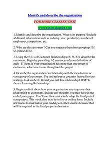 IDENTIFY AND DESCRIBE THE ORGANIZATION / TUTORIALOUTLET DOT COM