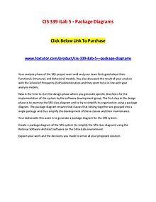 CIS 339 iLab 5 - Package Diagrams