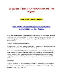 CIS 339 iLab 4 - Sequence, Communication, and State Diagrams