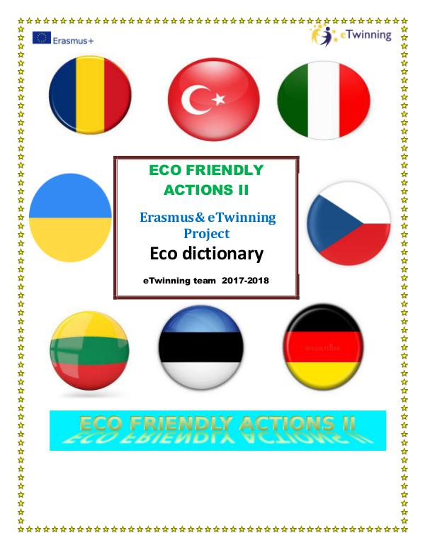 Eco friendly actions dictionar DICTIONARY ECO FRIENEDLY ACTIONS II