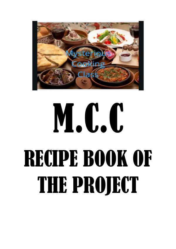 M.C.C JOINT PRODUCT-RECIPE E-BOOK M.C.C JOINT PRODUCT RECIPE E-BOOK