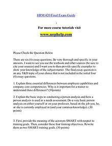 HRM 420 D help Minds Online/uophelp.com