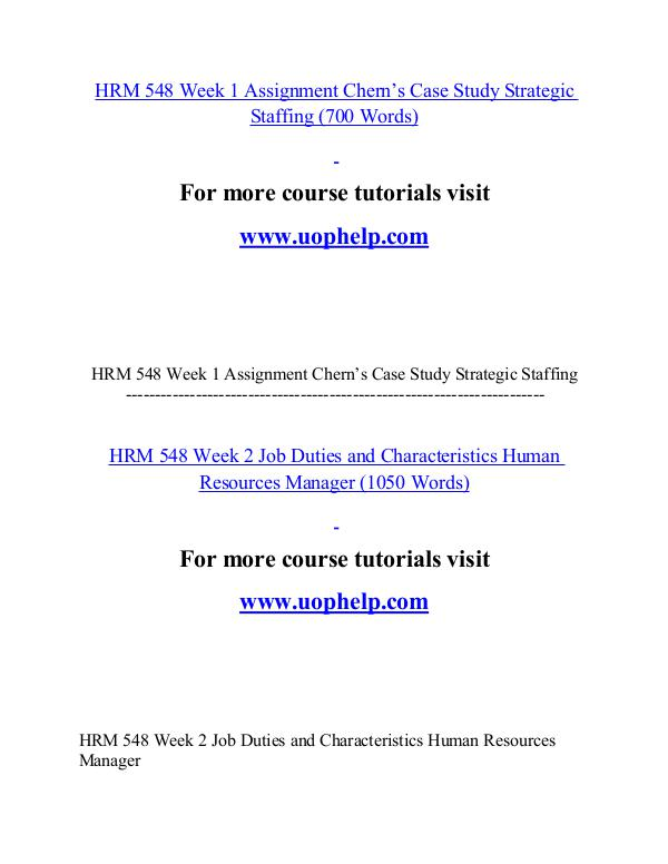 HRM 548 help Minds Online/uophelp.com HRM 548 help Minds Online/uophelp.com