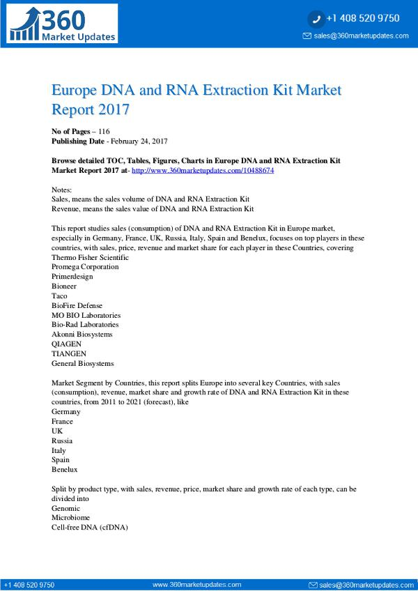 Global 3D Bioprinting Equipment Market Professional Survey Report 201 DNA-and-RNA-Extraction-Kit-Market-Report-2017