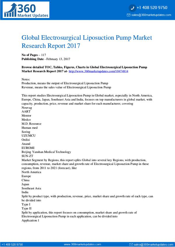 Global 3D Bioprinting Equipment Market Professional Survey Report 201 Electrosurgical-Liposuction-Pump-Market-Research-R