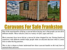 Caravans For Sale Dandenong