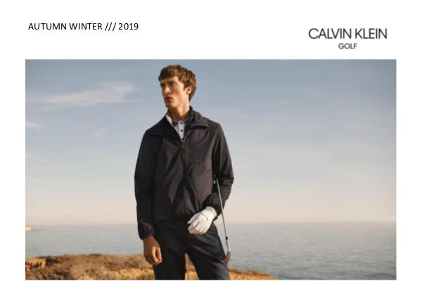 CK GOLF AW 2019 MEN'S LOOKBOOK