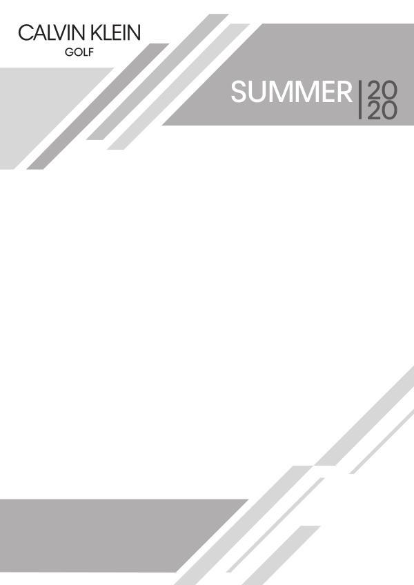 Spring 20 Calvin Klein Golf Men + Womens Calvin Klein SS20 Brochure