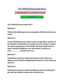 ACC 568 MART Extraordinary Success/acc568mart.com