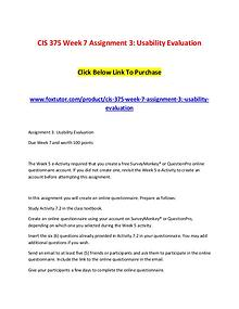 CIS 375 Week 7 Assignment 3 Usability Evaluation (2)