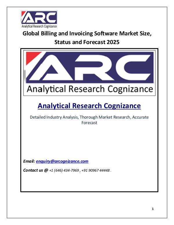 Industry Research Billing & Invoicing Software Market Size 2018-2025