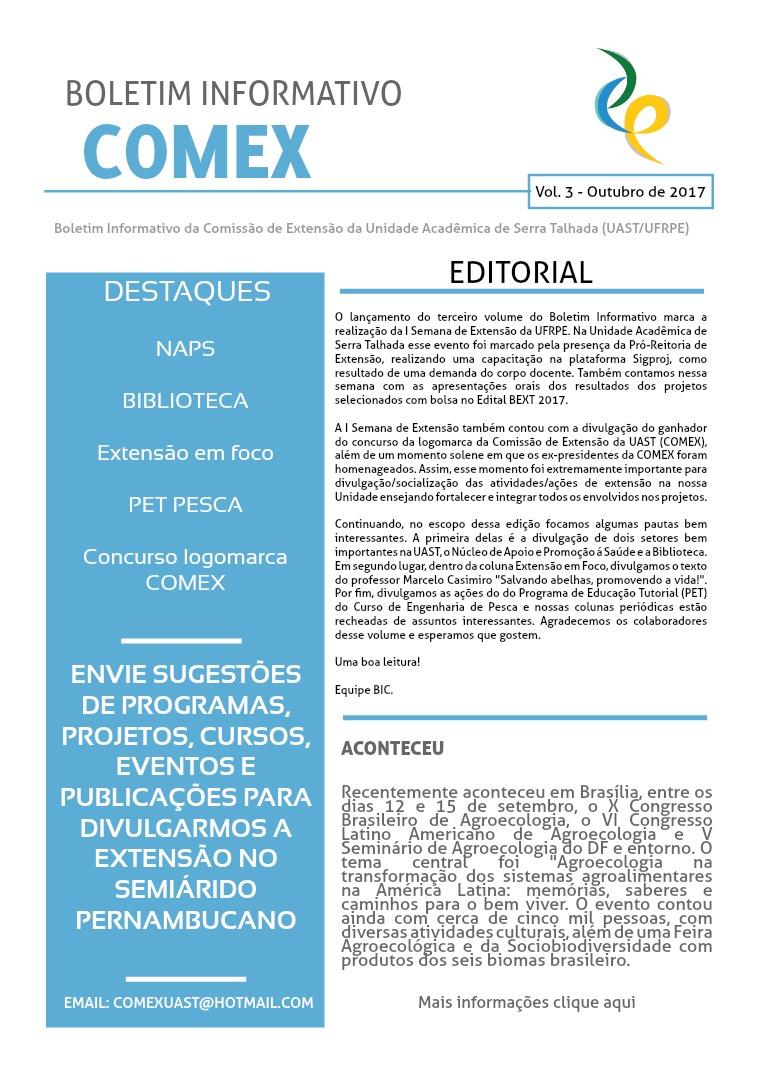 BOLETIM INFORMATIVO COMEX Volume 3