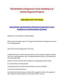 CIS 510 Week 2 Assignment 1 Error Handling in an Activity Diagram (2