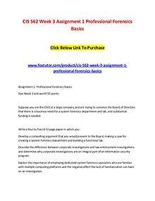 CIS 562 Week 3 Assignment 1 Professional Forensics Basics (2)