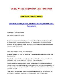 CIS 562 Week 9 Assignment 4 Email Harassment (2)