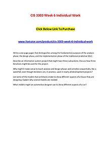 CIS 3303 Week 6 Individual Work