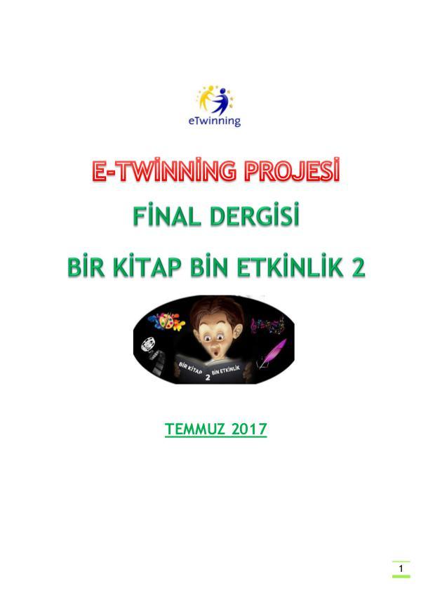 Bir Kitap Bin Etkinlik 2 Final Dergisi/Etwinning project