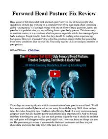 Forward Head Posture Fix PDF / eBook Free Download