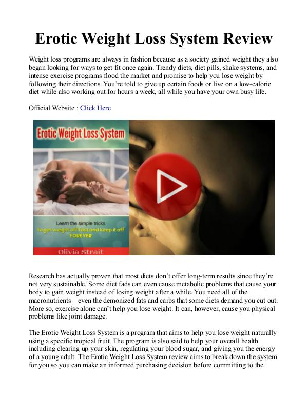 Erotic Weight Loss PDF / eBook Free Download Olivia Strait's Erotic Weight Loss System Review