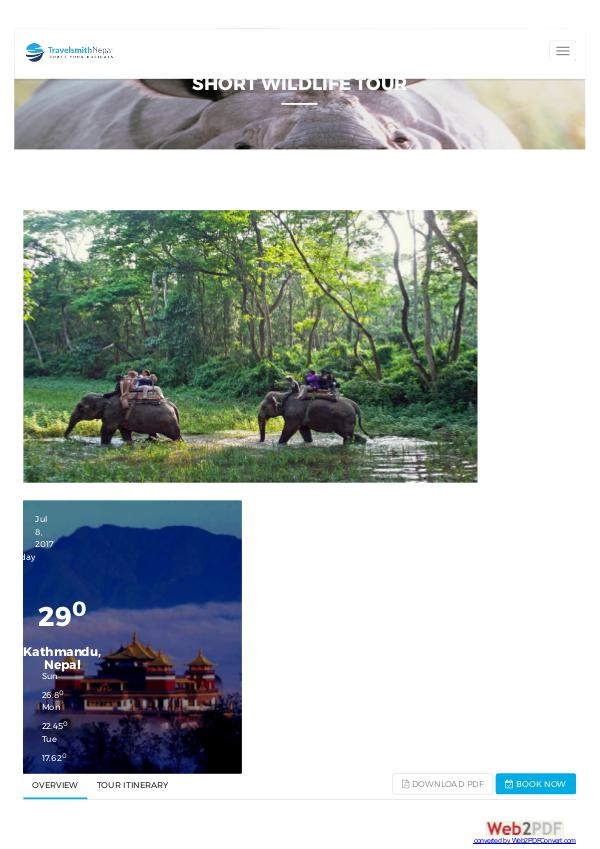 Nepal holidays short-wildlife-tour