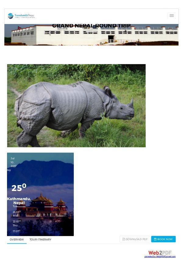 Nepal holiday tours grand-nepal-round-trip