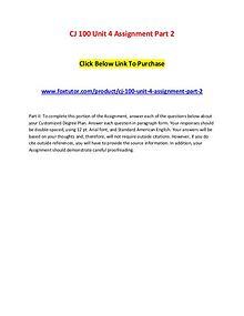 CJ 100 Unit 4 Assignment Part 2