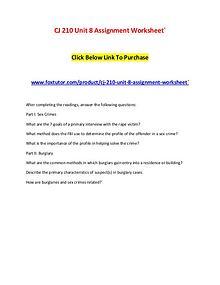 CJ 210 Unit 8 Assignment Worksheet`